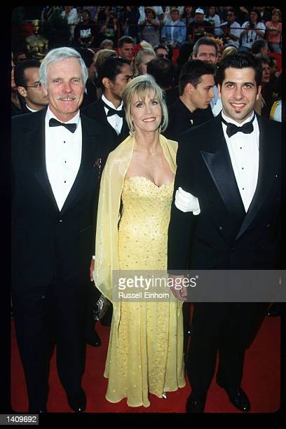 Ted Turner, Jane Fonda, and their son Troy arrive at the 69th Annual Academy Awards ceremony March 24, 1997 in Los Angeles, CA.