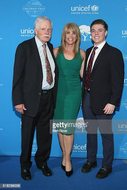 Ted Turner Laura Turner Seydel and John R Seydel attend UNICEF's Evening for Children First to Honor Ted Turner on March 30 2016 in Atlanta Georgia