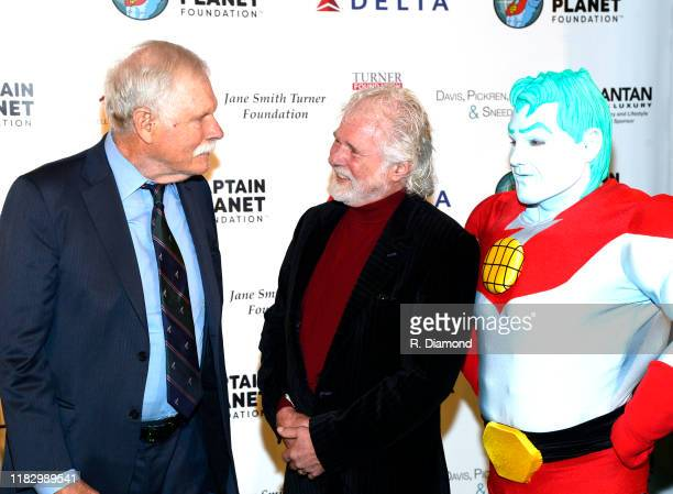 Ted Turner Rolling Stones keyboardist and honoree Chuck Leavell and Captain Planet attend 2019 Captain Planet Foundation Gala at Flourish Atlanta on...