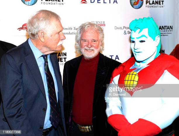 Ted Turner Rolling Stones Keyboardist/Honoree Chuck Leavell and Captian Planet attend 2019 Captain Planet Foundation Gala at Flourish Atlanta on...
