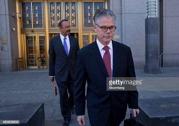 Ted Wells left and Daniel J Kramer attorneys representing SAC Capital Advisors LP exit federal court in New York US on Thursday April 10 2014 SAC...