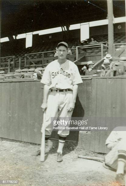 Ted Williams of the San Diego Padres of the Pacific Coast Leauge poses for a portrait circa 1937 in San Diego California