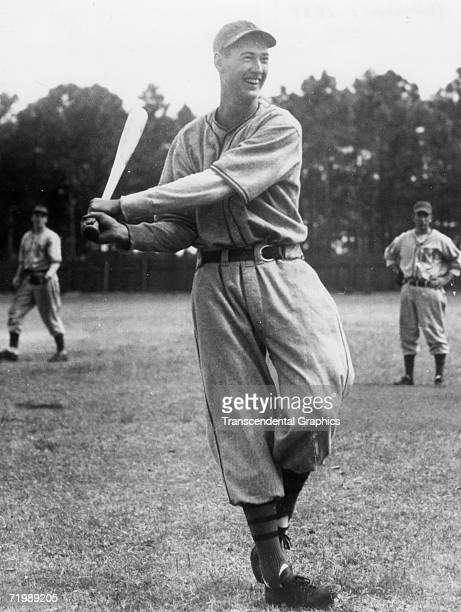 Ted Williams outfielder for the Minneapolis Millers of the American Association takes some swings before a game in 1938