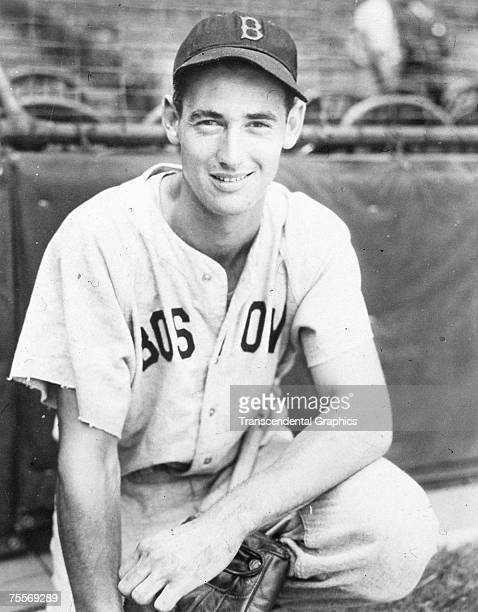 Ted Williams poses for a portrait before a game at Fenway Park in Boston in 1946