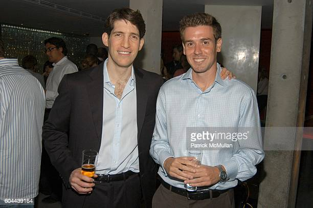 Ted Zagat and Mark Kornblau attend ECLIPSE and ZAGAT SURVEY 2006 'Dare to Dine Guide' Launch Party at Morimoto on August 15 2006 in New York City