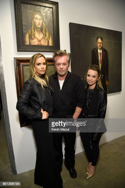 Teddi Jo Mellencamp John Mellencamp and Justice Mellencamp attend a private viewing of John Mellencamp's Life Death Love Freedom at ACA Galleries on...