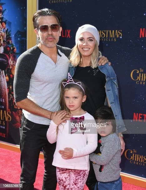 Teddi Mellencamp and family attend the premiere of Netflix's The Christmas Chronicles at Fox Bruin Theater on November 18 2018 in Los Angeles...