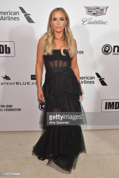 Teddi Mellencamp attends the 27th annual Elton John AIDS Foundation Academy Awards Viewing Party celebrating EJAF and the 91st Academy Awards on...