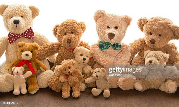 urso de pelúcia punhado de reunião de família - molho arranjo imagens e fotografias de stock