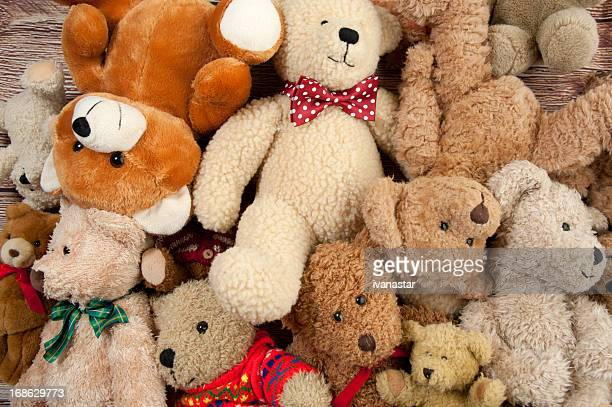 teddy bear bunch - stuffed toy stock pictures, royalty-free photos & images