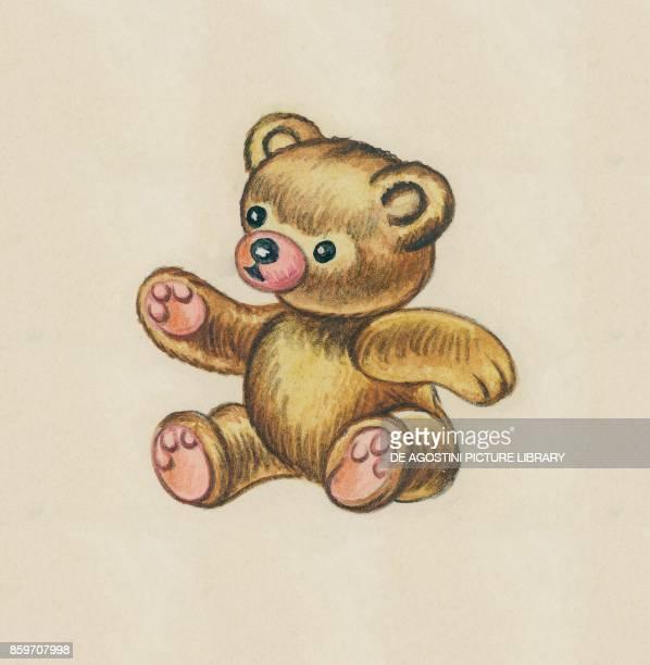 A teddy bear children's illustration drawing