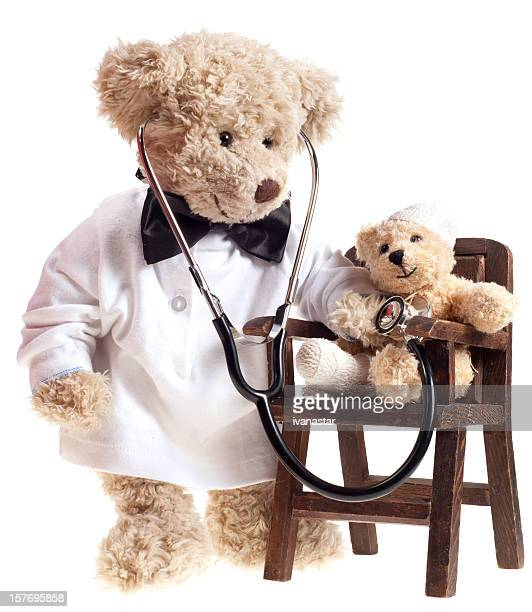 Teddy Bear Doctor with Injured Patient