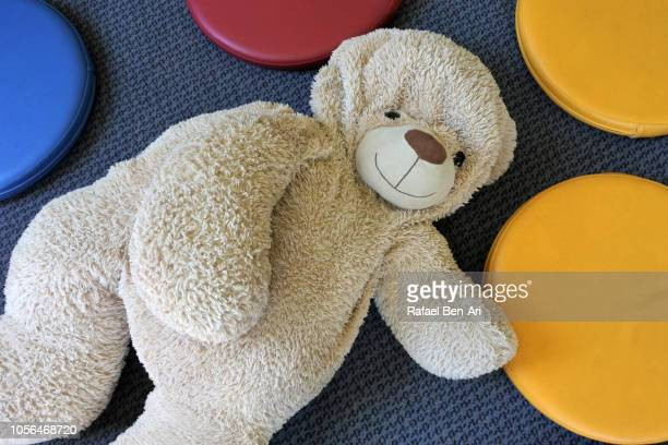Teddy Bear Lying on the Floor of Children Room