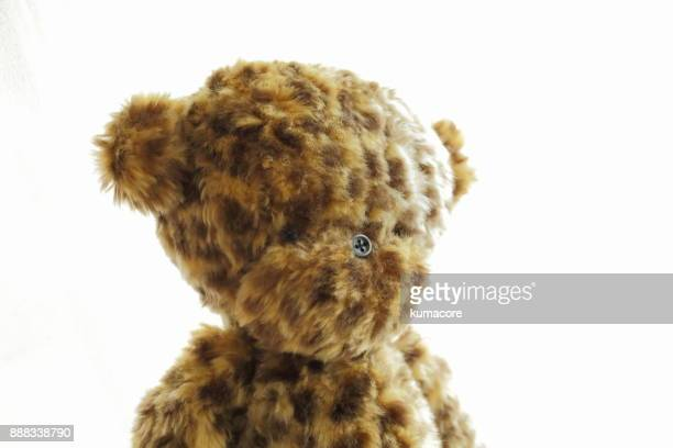 Teddy bear of leopard print,close up