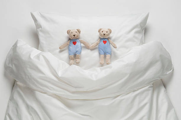 Teddy Bear On Bed Wall Art