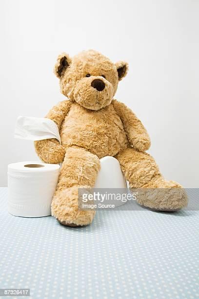 Teddy bear on potty
