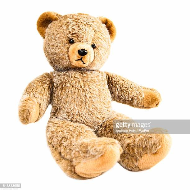 Teddy Bear Over White Background