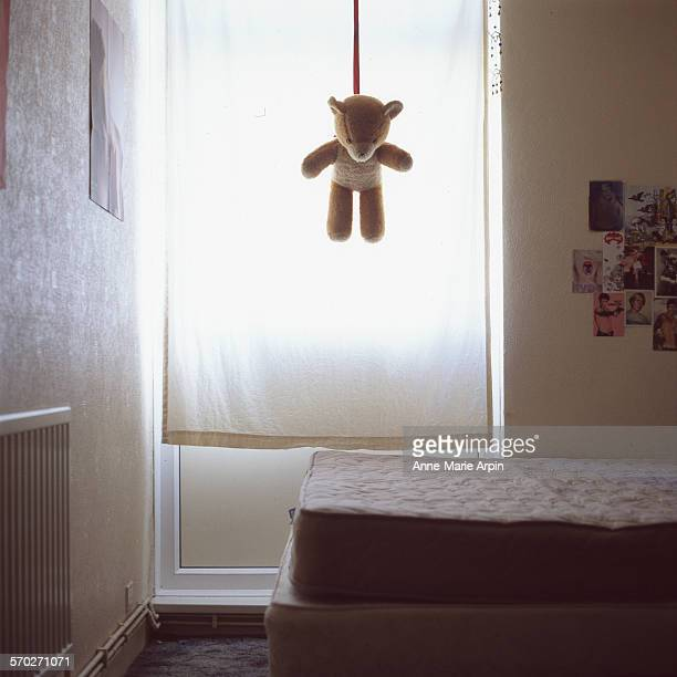 teddy bear - suicide stock photos and pictures