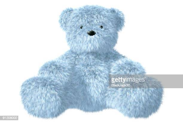 teddy bear - blue bear stock photos and pictures