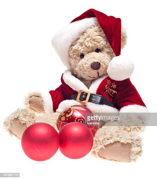 teddy bear santa - dolly golden stock pictures, royalty-free photos & images