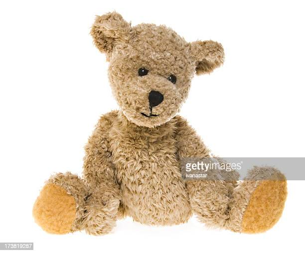 teddy bear waiting - stuffed toy stock pictures, royalty-free photos & images
