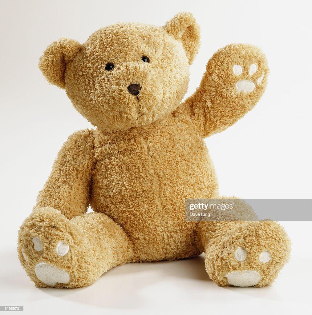 Teddy bear waving : Foto de stock