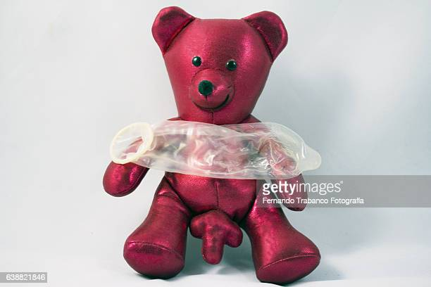 teddy bear with a condom - animal erections stock pictures, royalty-free photos & images