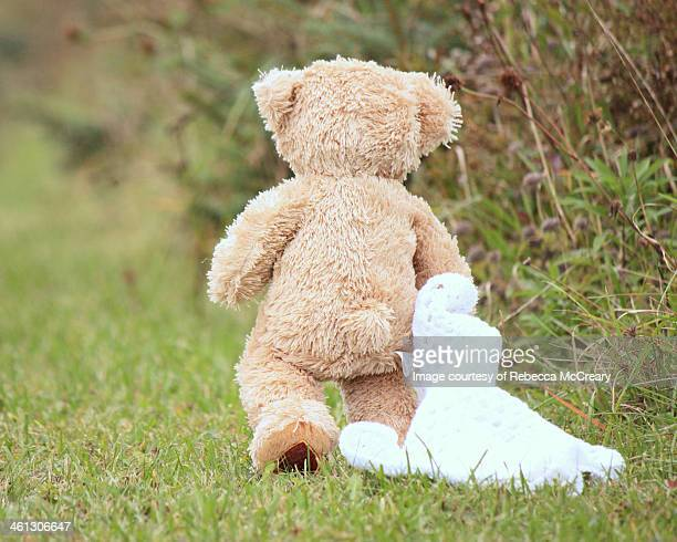Teddy bear with blanket