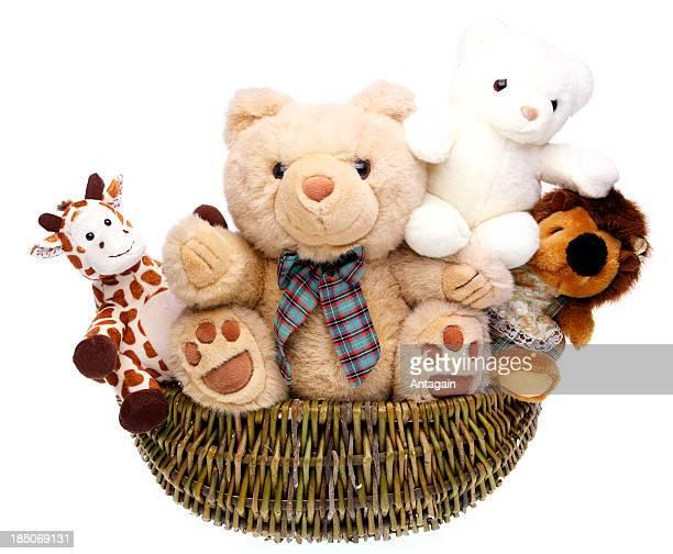 Teddybären in Korb