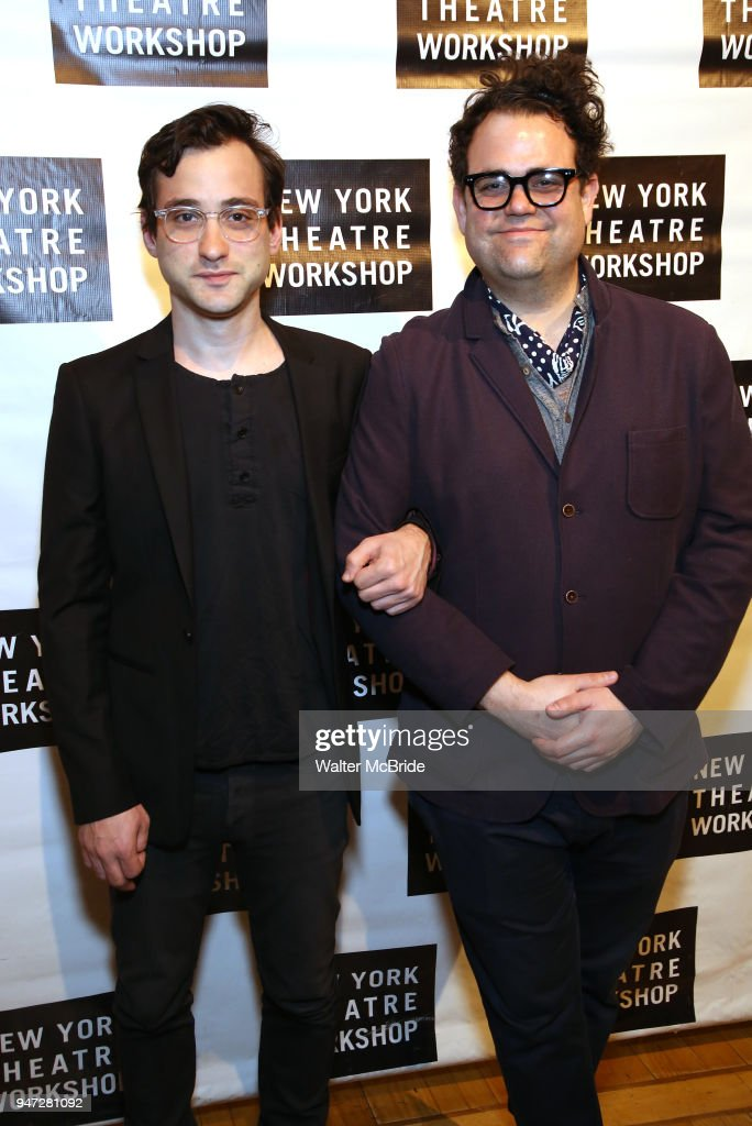 Teddy Bergman and Greg Hildreth attend the 2018 New York Theatre Workshop Gala at the The Altman Building on April 16, 2018 in New York City.