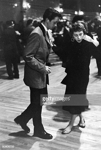 A 'Teddy Boy' dances with his girl at the Mecca Dance Hall Tottenham London 29th May 1954 Picture Post 7169 The Truth About The 'Teddy Boys' pub 1954