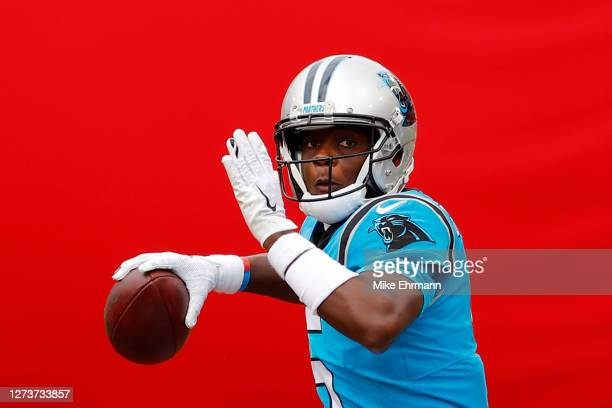 Teddy Bridgewater of the Carolina Panthers throws a pass during the second half against the Tampa Bay Buccaneers at Raymond James Stadium on...