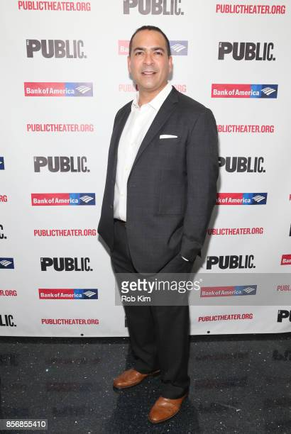 """Teddy Canez attends the opening night celebration of """"Tiny Beautiful Things"""" at The Public Theater on October 2, 2017 in New York City."""