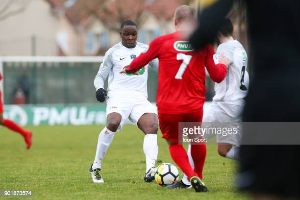 Teddy Gadjard of Houilles during the french National Cup match between Houilles and Concarneau on January 6 2018 in Houilles France
