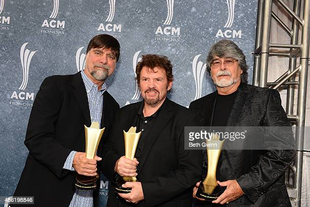 Teddy Gentry Jeff Cook and Randy Owen of the band Alabama attend the 9th Annual ACM Honors at Ryman Auditorium on September 1 2015 in Nashville...