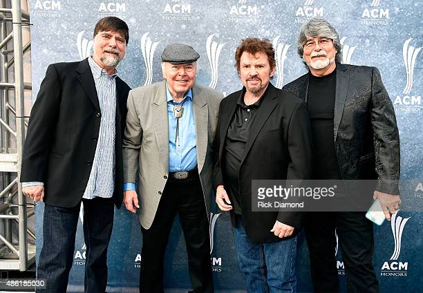 Teddy Gentry of Alabama Roy Clark and Jeff Cook and Randy Owen of Alabama attend the 9th Annual ACM Honors at the Ryman Auditorium on September 1...