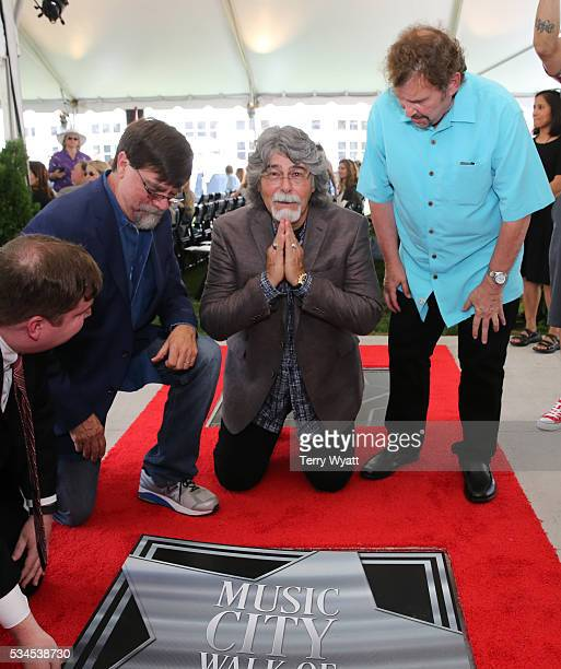 Teddy GentryRandy Owen and Jeff Cook of the Musical group 'Alabama' attend the 2016 Music City Walk Of Fame Induction Ceremony at Music City Walk of...