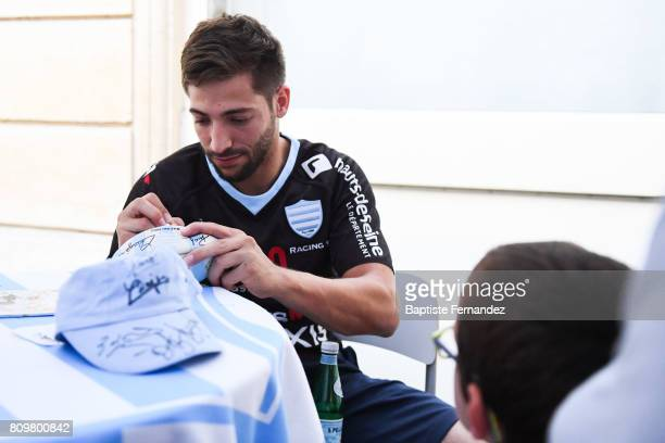 Teddy Iribaren new signing player of Racing 92 during press conference of Racing 92 on July 6 2017 in Paris France