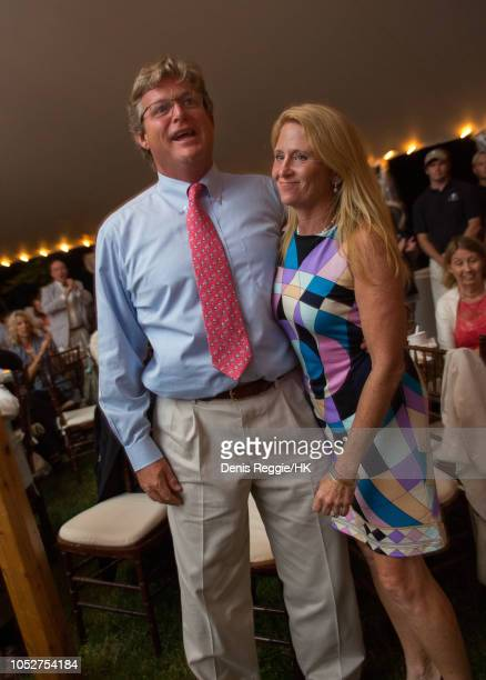 Teddy Kennedy Jr and Dr Kiki Kennedy attend Cheryl Hines and Robert F Kennedy Jr Wedding at a private home on Saturday August 2 in Hyannis Port...