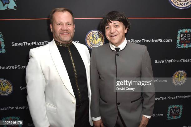 Teddy Lewis and Carlos Cardoza attend the House Of Cardin Special Screening At Palm Springs Modernism Week at The Plaza Theater on February 21 2020...