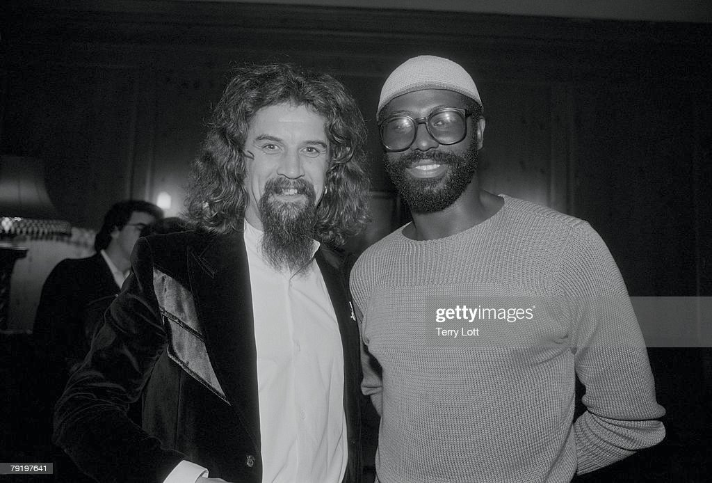 Teddy Pendergrass With Comedian Billy Connolly At A Reception, London