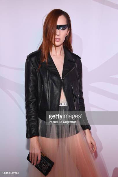 Teddy Quinlivan attends Le Bal Surrealiste Dior during Haute Couture Spring Summer 2018 show as part of Paris Fashion Week on January 22 2018 in...