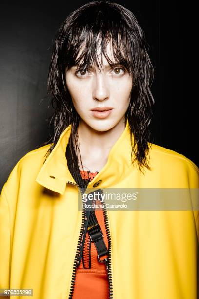 Teddy Quinlivan is seen backstage ahead of the Neil Barrett show during Milan Men's Fashion Week Spring/Summer 2019 on June 16 2018 in Milan Italy