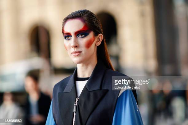 Teddy Quinlivan is seen outside Louis Vuitton during Paris Fashion Week Womenswear Fall/Winter 2019/2020 on March 05 2019 in Paris France
