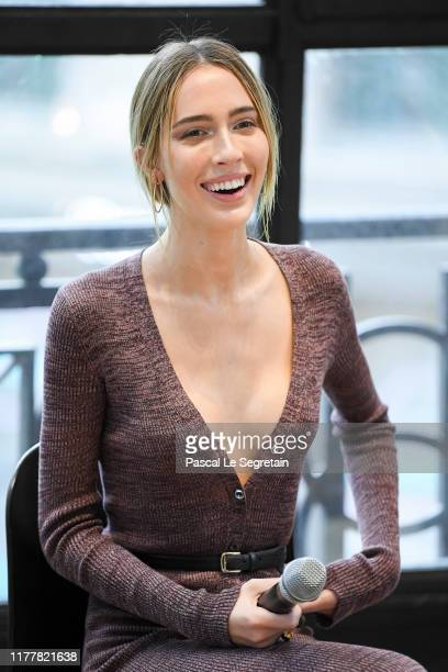 Teddy Quinlivan speaks on stage at the BoF 500 Symposium at Galeries Lafayette on September 29 2019 in Paris France