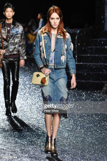 Teddy Quinlivan walks the runway at Coach Fashion Show during New York Fashion Week on September 12 2017 in New York City