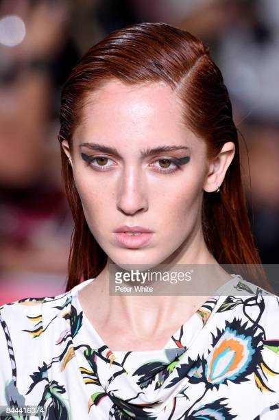 Teddy Quinlivan walks the runway at the Jason Wu show during the New York Fashion Week on September 8 2017 in New York City