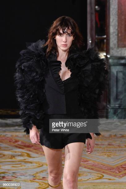 Teddy Quinlivan walks the runway during the Redemption Haute Couture Fall Winter 2018/2019 show as part of Paris Fashion Week on July 2 2018 in Paris...