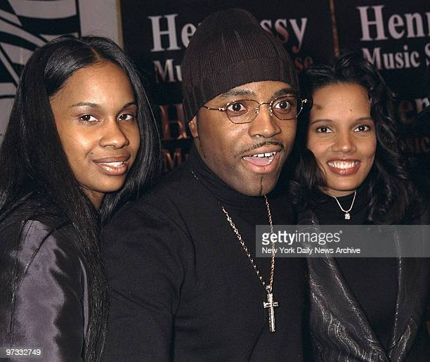 Teddy Riley of Blackstreet with fiance Donna Moore and actress Shari Headley attending party for Riley at Spy