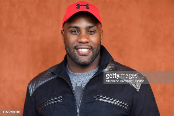 Teddy Riner attends the 2019 French Tennis Open - Day Eleven at Roland Garros on June 05, 2019 in Paris, France.